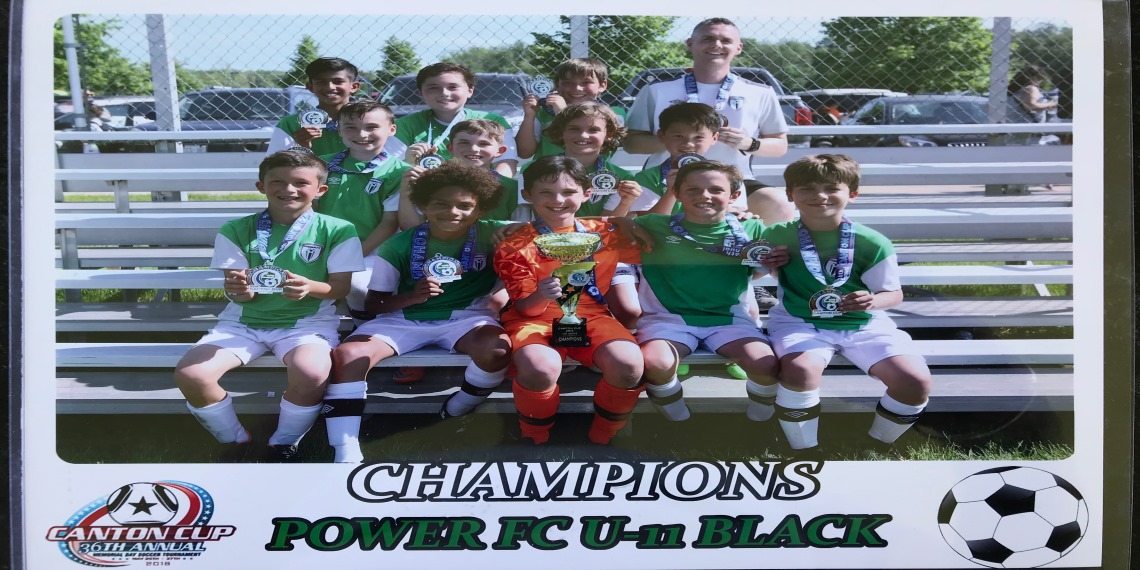 U11 Green Champions at the 2018 Canton Cup!